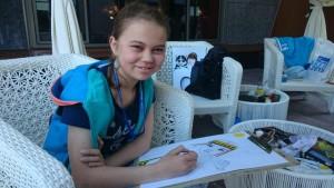 Юная художница из Самбурга