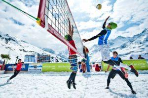 снежный волейбол