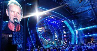Стинг выступил на закрытии «Новой волны» в Сочи