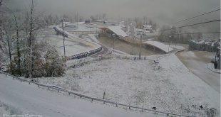 Горные курорты Сочи замело снегом