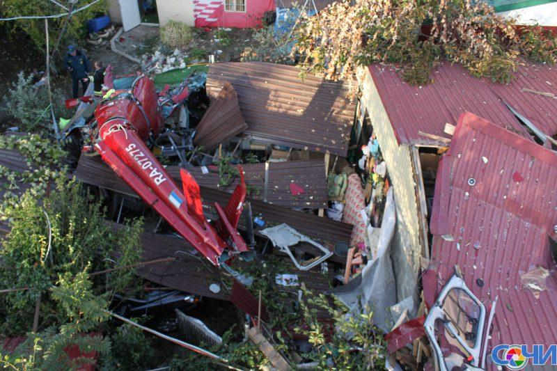 Следствие изучает версию отехнической неисправности упавшего вСочи вертолета