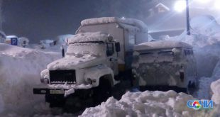 В Сочи из-за снегопада ввели ограничение на передвижение грузового транспорта