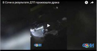 В Сочи в результате ДТП произошла драка (видео)