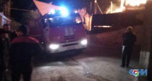 На улице Олимпийской в пожаре погиб человек (видео)