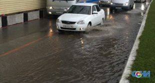 Залповый дождь подтопил автотрассу Джубга-Сочи