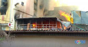 Пожар в общежитии Сочи полностью ликвидирован-МЧС