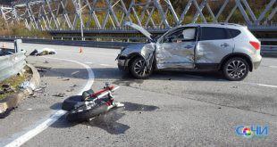 Водитель мотоцикла погиб в ДТП в Сочи