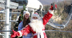 День летающих Дедов Морозов прошел в Сочи