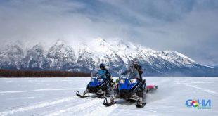 Катания на снегоходах открыли в заповеднике в Сочи