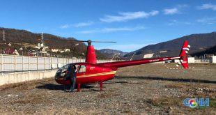 Жесткую посадку на водозабор Сочи совершил частный вертолет, из-за отказа двигателя