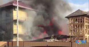 В Сочи сгорел восьмиквартирный дом
