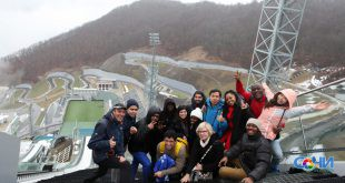 Студенты РМОУ проходят практику на олимпийских объектах