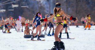 Книга Гиннеса отложила регистрацию второго массового спуска с горы в купальниках в Сочи
