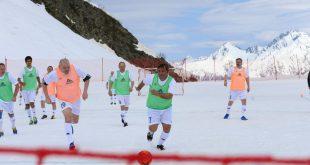 В горах Сочи провели футбольный матч, который стал рекордом России