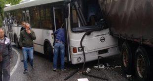 ДТП с участием пассажирского автобуса произошло в Сочи, есть пострадавшие