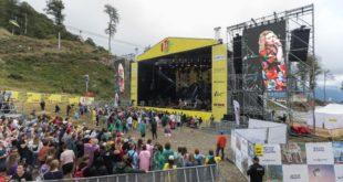 Более пяти тысяч гостей курорта «Роза Хутор» услышали «музыку на высоте» в горах Сочи