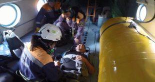 Спасатели эвакуировали мужчину из горно-лесной местности в районе озера Кардывач