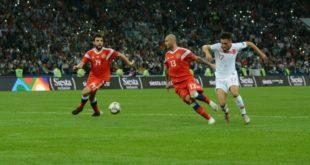 Сборная России по футболу одержала победу над командой Турции в матче Лиги Наций