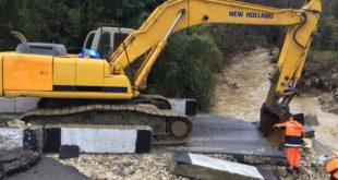 В селе Нижняя Шиловка размыло временную дорогу, которую возвели на время  восстановления рухнувшего моста