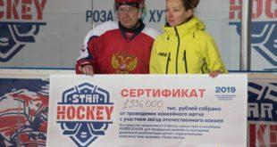 Благотворительный хоккейный матч прошел на «Роза Хутор»