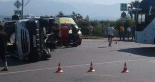 Два экскурсионных автобуса столкнулись в Олимпийском парке