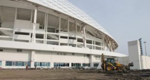 На стадионе «Фишт» началось строительство теннисных кортов