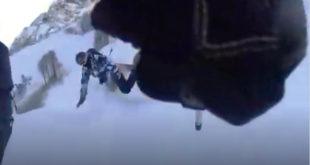 В Сочи наказали лыжника, шутя сбившего сноубордиста