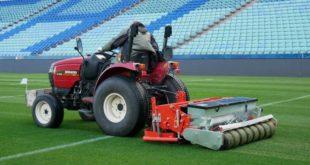 В Сочи восстанавливают поле на стадионе «Фишт»