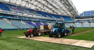 На стадионе «Фишт» началась реновация поля