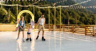 Покататься на коньках в разгар лета в горах Сочи можно бесплатно