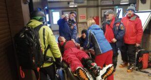 Спасатели помогли лыжнику, сломавшему ногу в горах Красной Поляны