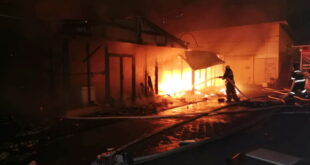 В Сочи сгорел рынок